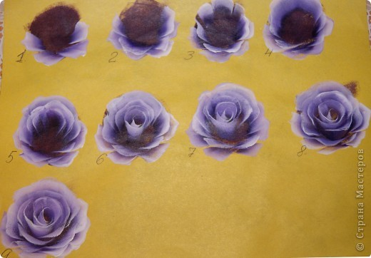 Роспись розами-мастер класс