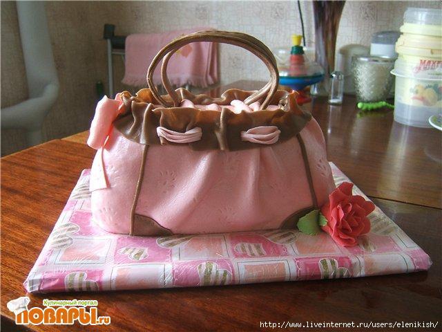 Лучшие торты на заказ на тему сумочка на тортысайт