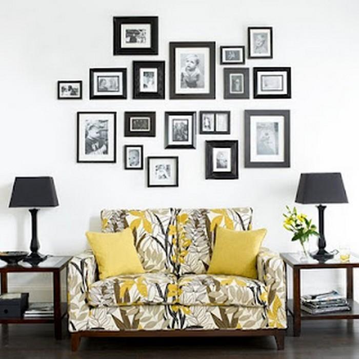 Фото рамки в интерьере гостиной