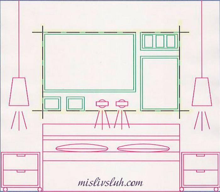 Как повесить картину или фотографию 22 (700x612, 66Kb)