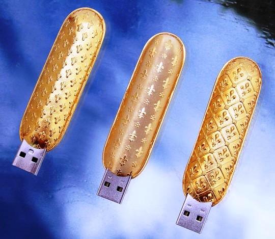 необычные флешки из золота (540x469, 77Kb)