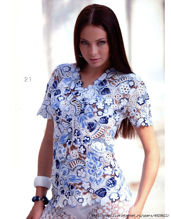 Блузка «Гжель»