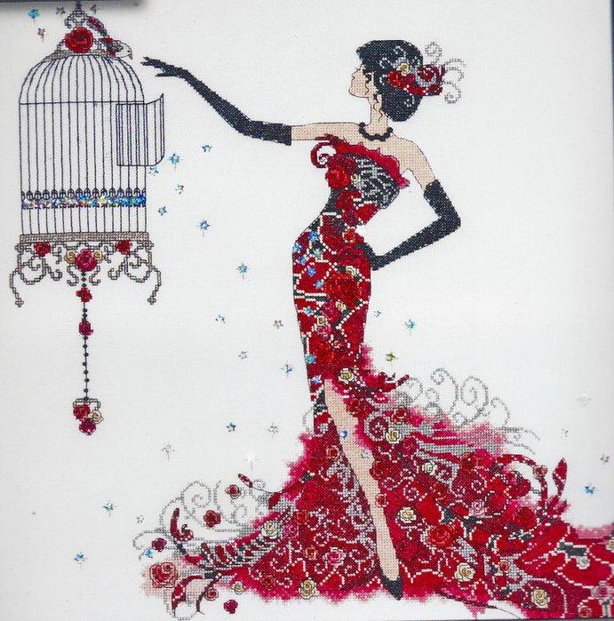 2754 Birdcage Elegance (691x700, 123Kb)