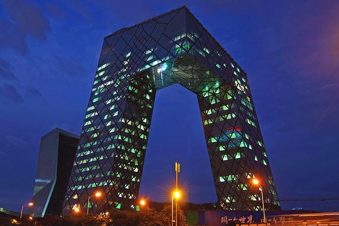 Лучшие офисы мира - Штаб-квартира центрального телеканала КНР 2 (700x467, 100Kb)