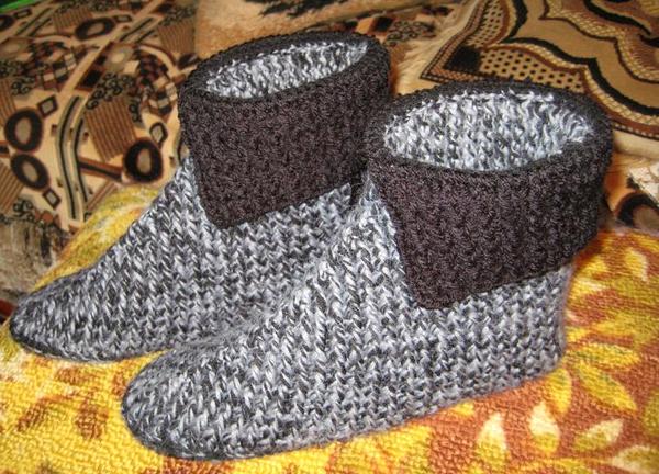Страна мам вязание тапочек для мужчин