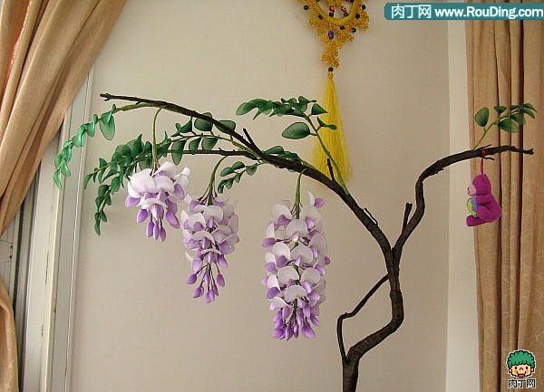 Цветы из капрона. глициния. мк, глициния из капррона