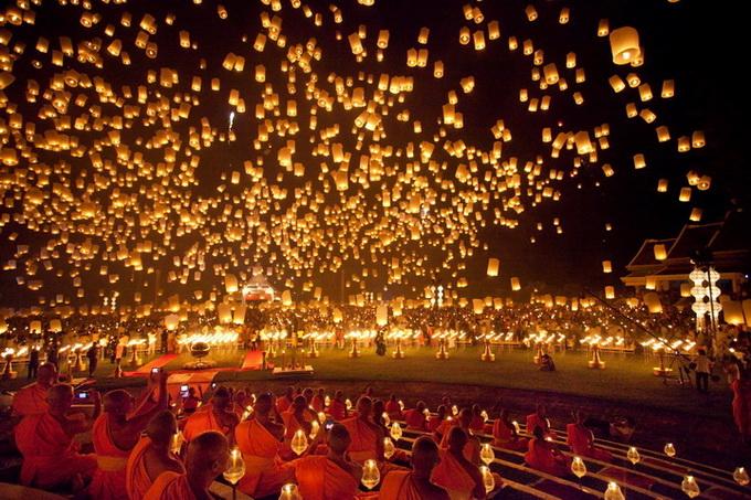 фестиваль небесных фонариков фото (680x453, 177Kb)