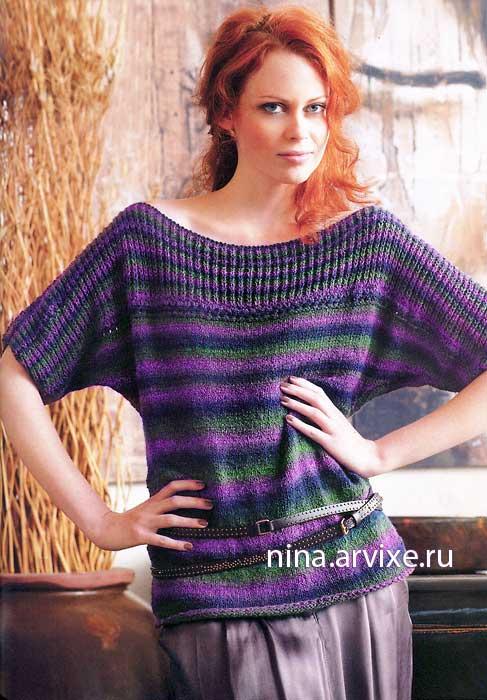 Пуловер с рукавами «летучая