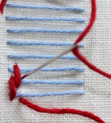 刺绣的各种针迹教程 2 - maomao - 我随心动