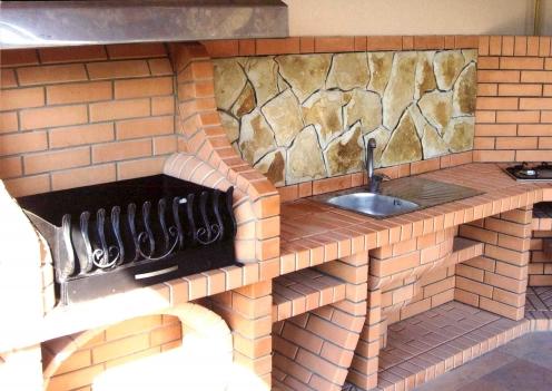 Барбекю на летней кухне своими руками 480