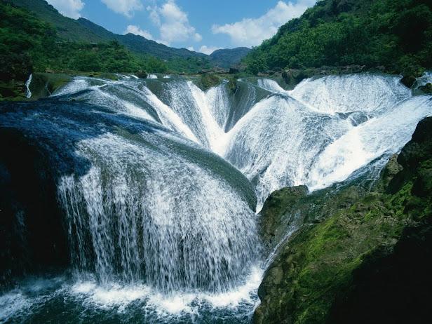 Водопад Жемчужина, долина Цзючжайгоу, Китай (616x462, 120Kb)