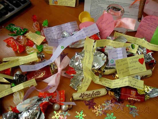 Пожелания в конфетах своими руками