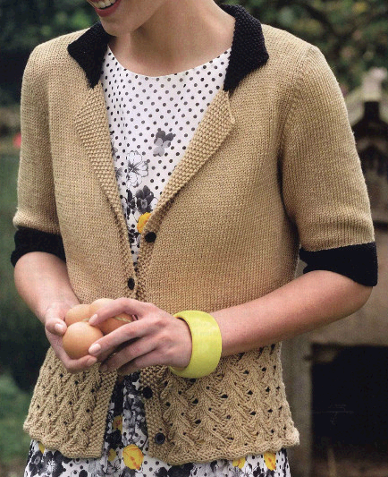 Женский жакет вязаный спицами с коротким рукавом,с баской/4683827_20120909_123358 (434x533, 248Kb)