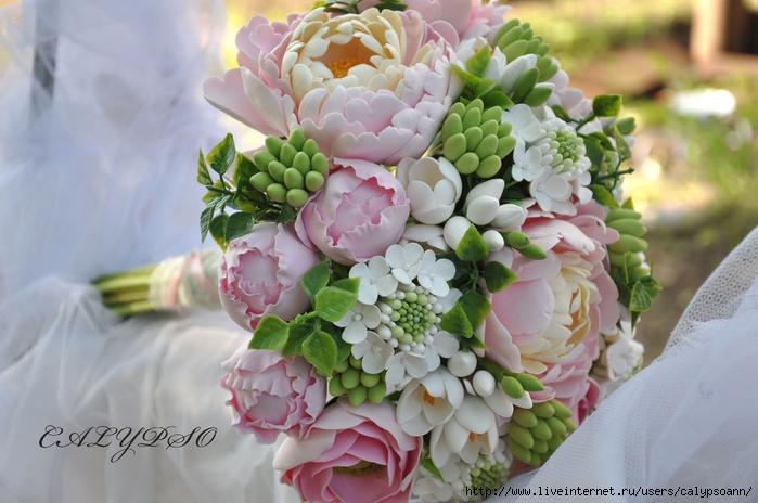 Из полимерной глины букет невесты
