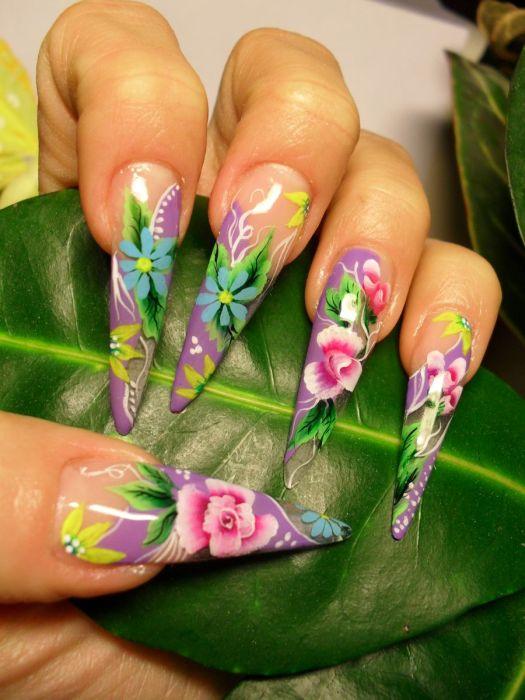Дизайн желтый ногтей