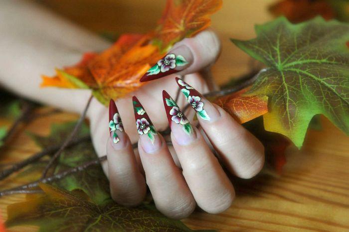 дизайн ногтей осень: