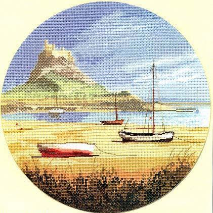 Lindisfarne, The John Cleyton Сollection.  Замок Линдисфарн, Нортумберленд.  Из коллекции Джона Клейтона.