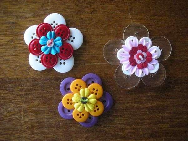 Цветы из пуговиц своими руками для детского сада