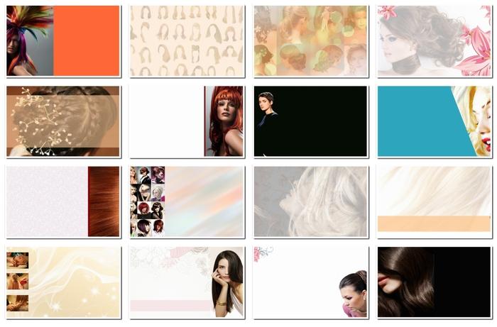 Фоны для визиток: парикмахерские услуги. 22 jpeg