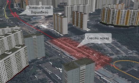 Предполагаемая линия СТ по ул.Академика Янгеля и ул.Россошанская