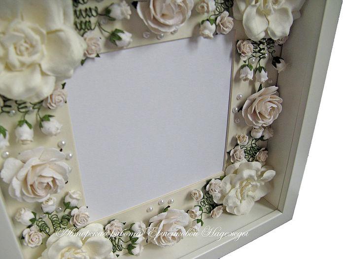 Декор свадебной рамки для фото своими руками 89