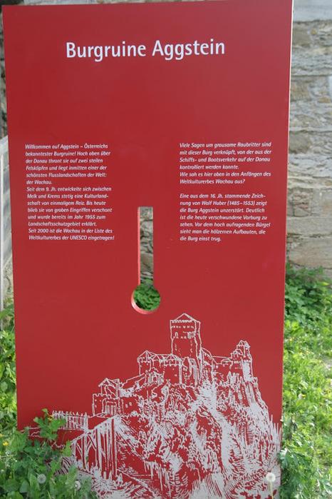 Развалины замка Аггштайн у вод Дуная 87746