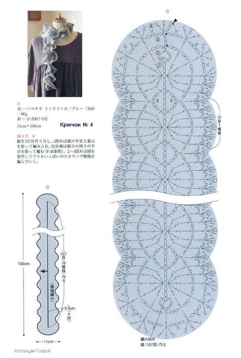 волнистый ракушки схема (471x700, 172Kb)