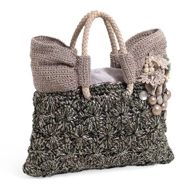 схемы вязания сумок из пакетов - Сумки.