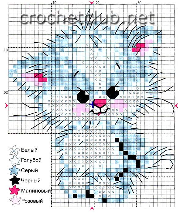 Рисунок Котенка и бабочек я