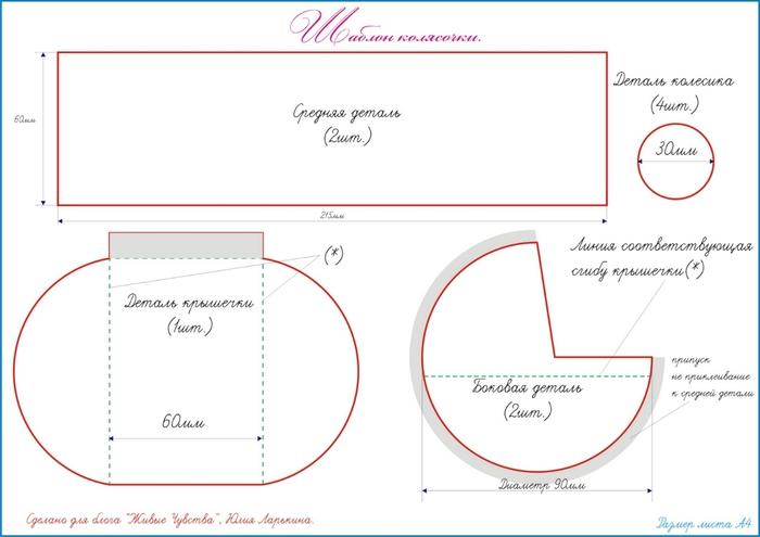 Работы из бумаги: коляска для денег ФОТО #1 Декор своими 93