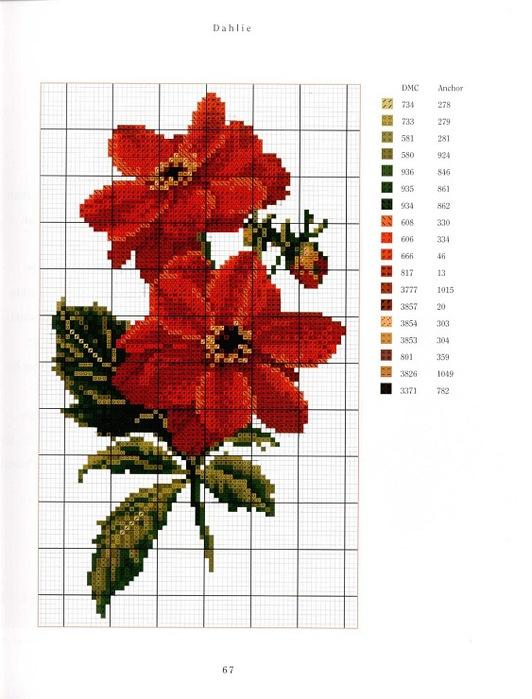 Вышивание крестиком картинки цветы 7