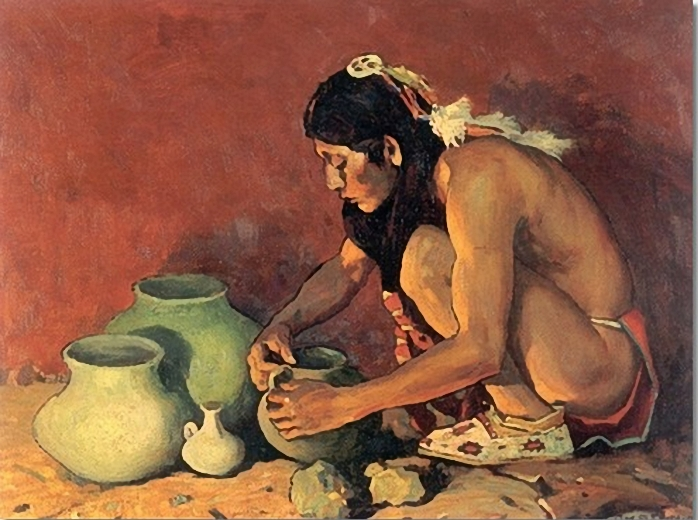 eanger-irving-couse-the-pottery-maker-1930- (698x520, 273Kb)