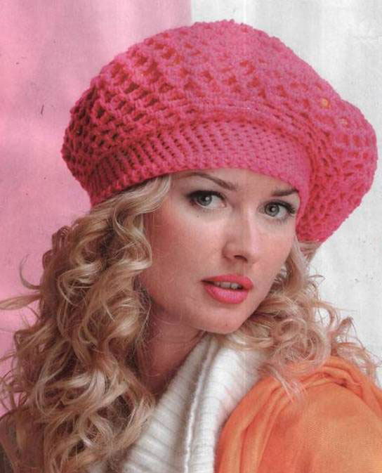 Модные вязаные шапки схемы