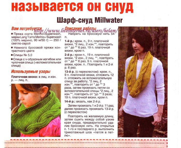 Вязание шарфа спицами крупной вязкой для начинающих