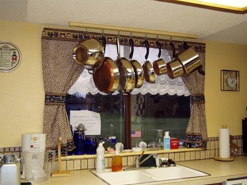 Креативные шторы на кухню своими руками