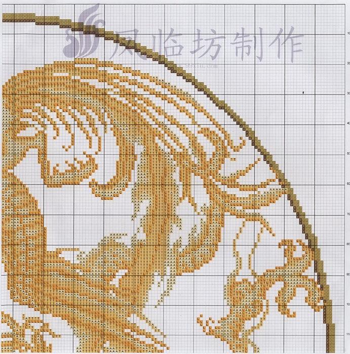 Феникс и дракон вышивка