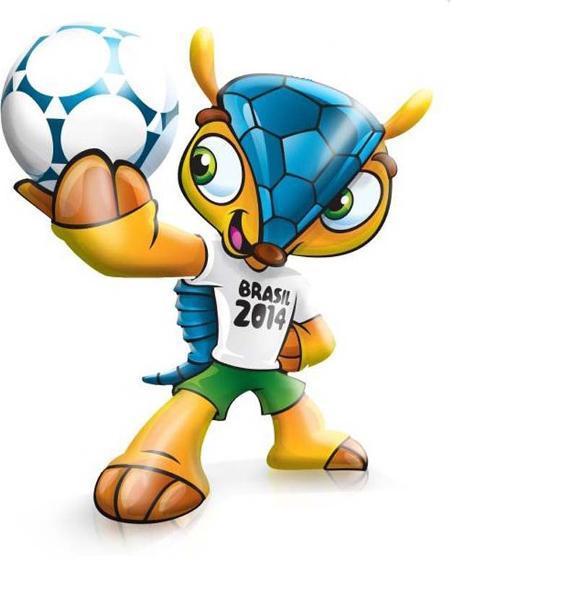 Броненосец, талисман Чемпионата мира 2014