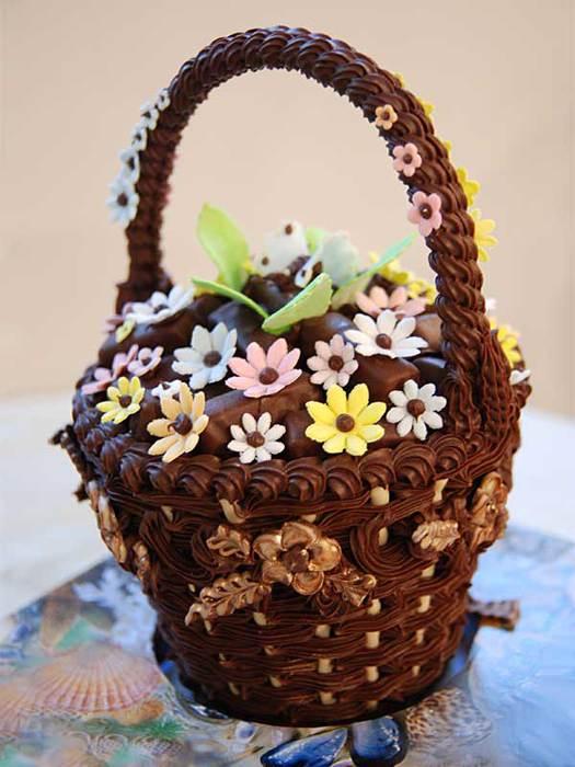 Шоколадная корзинка своими руками