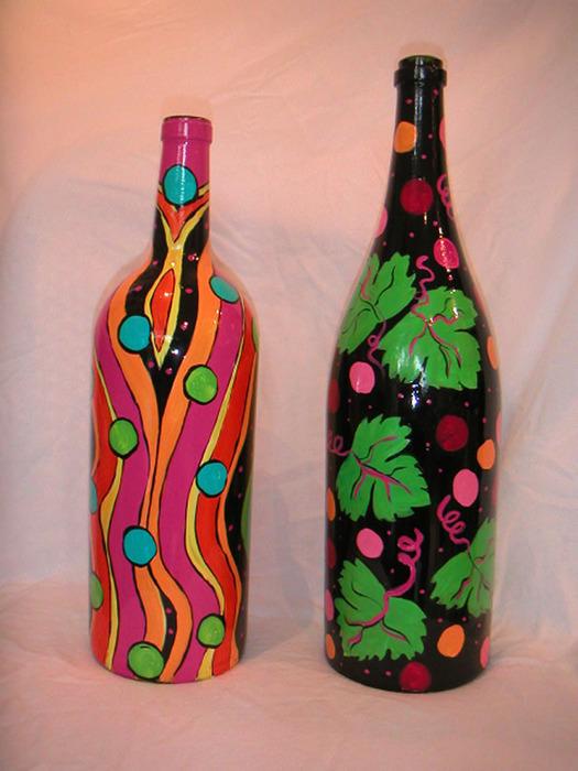 Бутылки роспись своими руками