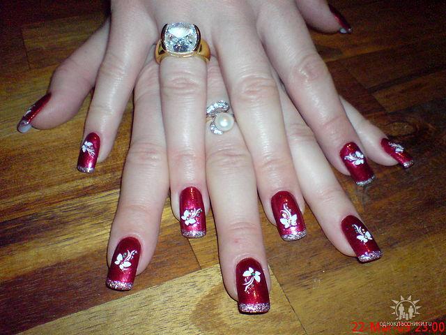 Ногти черно красные дизайн фото