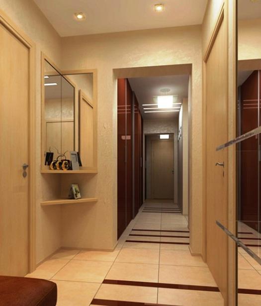 Дизайн коридора прихожей в квартире в