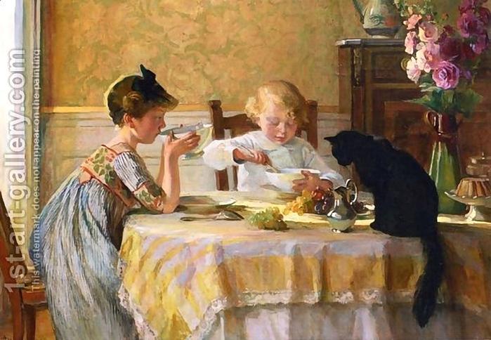 Angele Blanche Denvil . Snack Time (700x484, 263Kb)