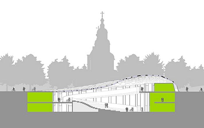 Современная архитектура Харькова - проект площади Конституции 6 (700x442, 35Kb)