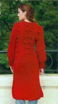 Добавить свое объявление.  МАТЕРИАЛЫ Для пальто: 1100 г фитильной пряжи (100 % акрил) красного цвета и 3 пуговицы в...