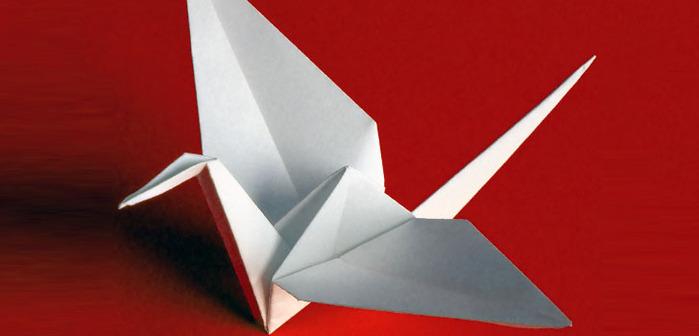Origami_juravlik_shema.  Оригами журавлик.