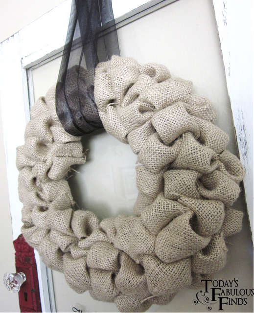 Burlap Wreath (519x640, 691Kb)
