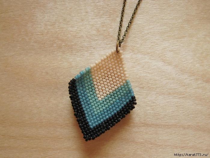 """Посмотрите мастер класс и схемы плетения из бисера кулона своими руками.  У меня в дневнике в рубрике  """"украшения """"..."""