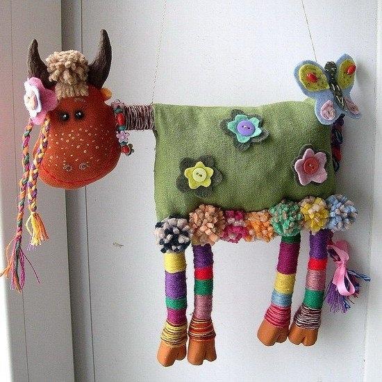 Необычные игрушки из текстиля своими руками 6