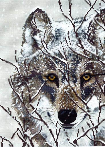 Волк. Вышивка крестом, схемы с