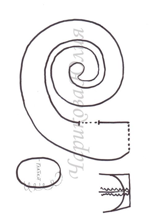 Как сделать змею из ткани своими руками схемы 11